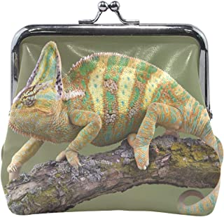 Women Wallet Purse Chameleon Walk Tree Branch Clutch Bag Leather