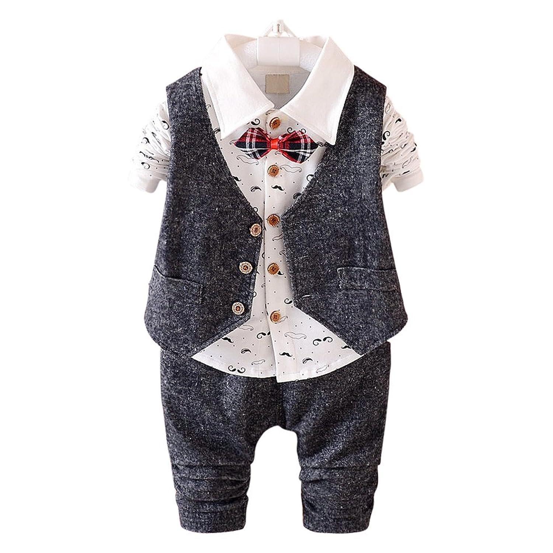 (ベビーゴー)babygo 子供服 男の子 フォーマル スーツ ベスト&長袖ポロシャツ&パンツ 3点セット