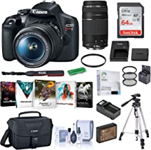 $599 » Canon EOS Rebel T7 DSLR Camera with EF-S 18-55mm and EF 75-300mm Lens Complete Bundle with Bag, Battery, Charger, Filter K...
