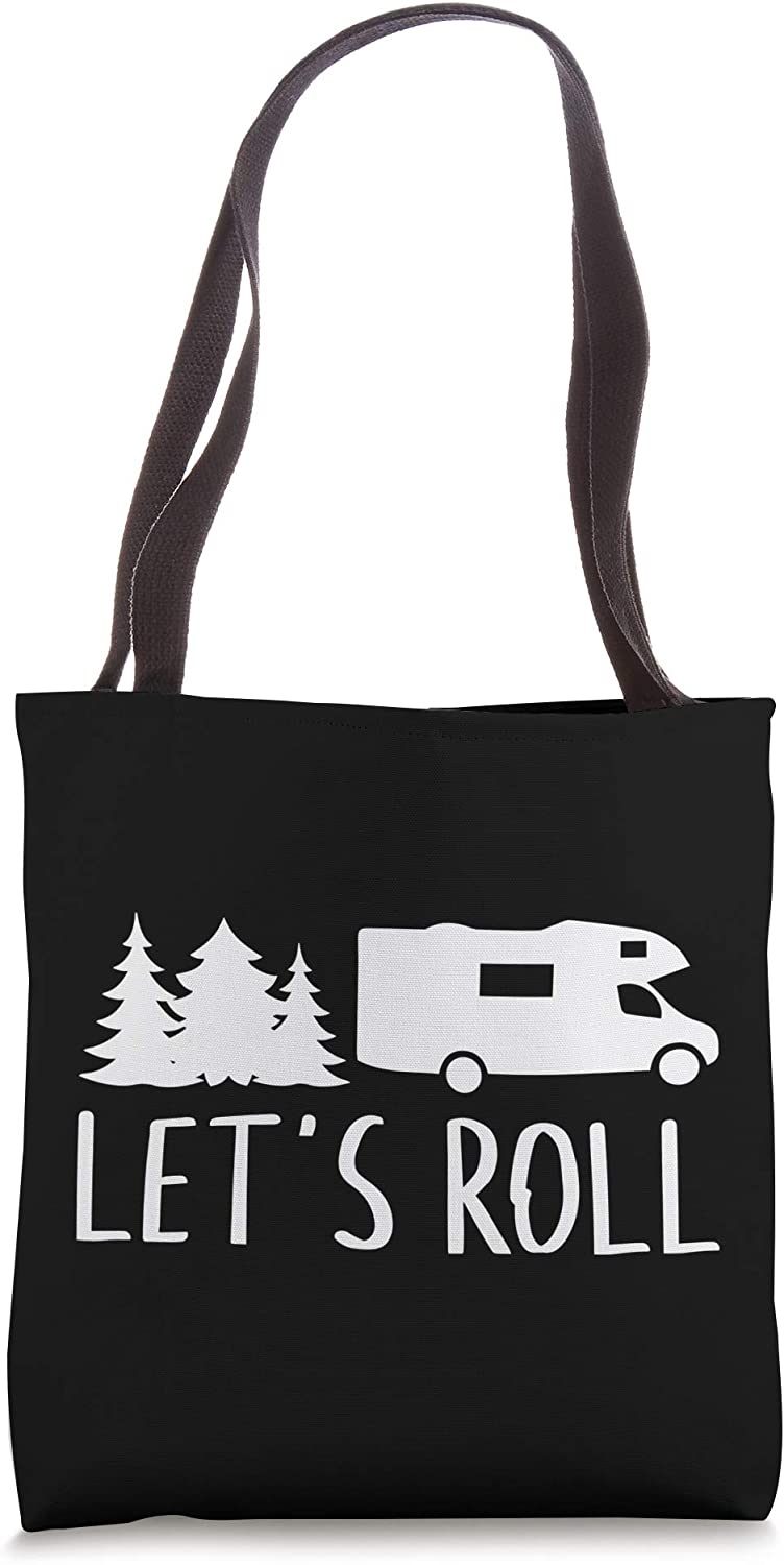 Let's Roll Camper Funny Cute RV Camping Vacation Tote Bag