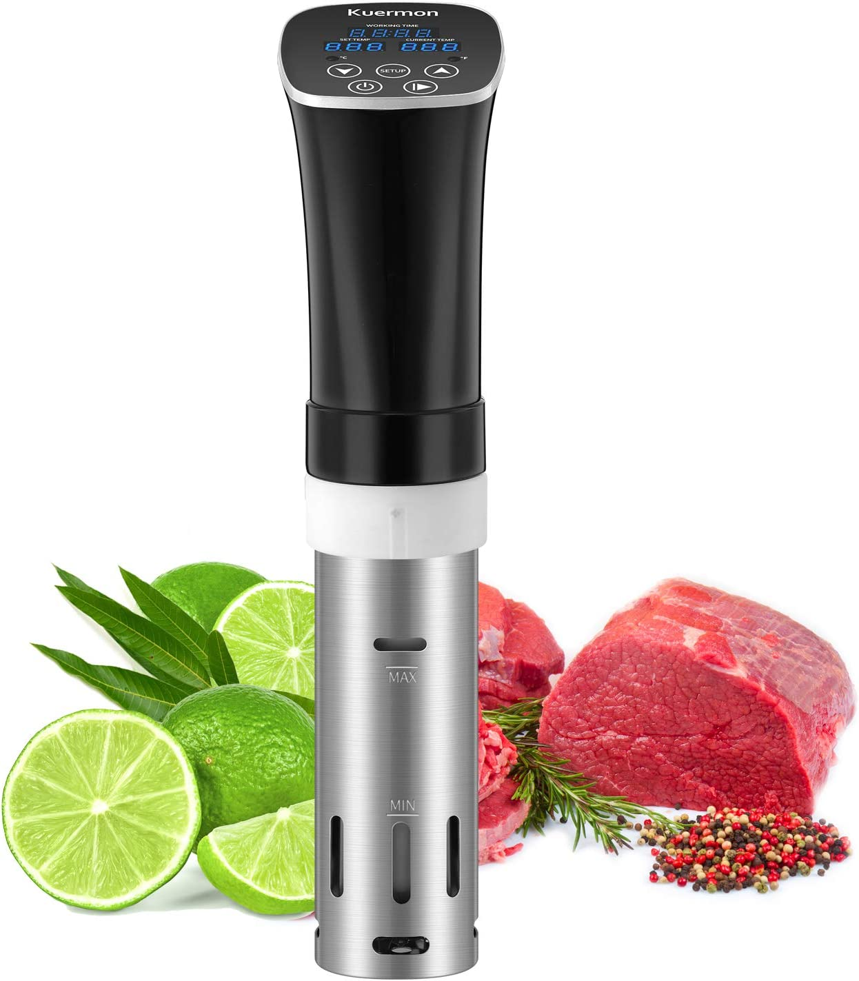 Sous Vide Cooker Accurate Temperature Digital Timer Thermal Immersion Circulators Ultra-Quiet 1000 Watts for Kitchen (SV238A)