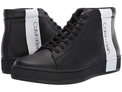 Calvin Klein Nilo (Black Nappa Smooth Calf/Logo Over Print) Men