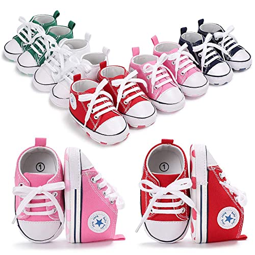 cheaper 6ac66 a5c3a Tutoo Unisex Baby Boys Girls Star High Top Sneaker Soft Anti-Slip Sole Newborn  Infant