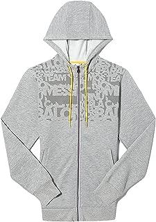 adidas Messi Full Zip Hooded Sweat Jacket Grey