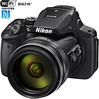 Nikon COOLPIX P900 16MP Zoom Digital Camera with 83x Optical Zoom, Built-in Wi-Fi and NFC (Black) (Renewed)