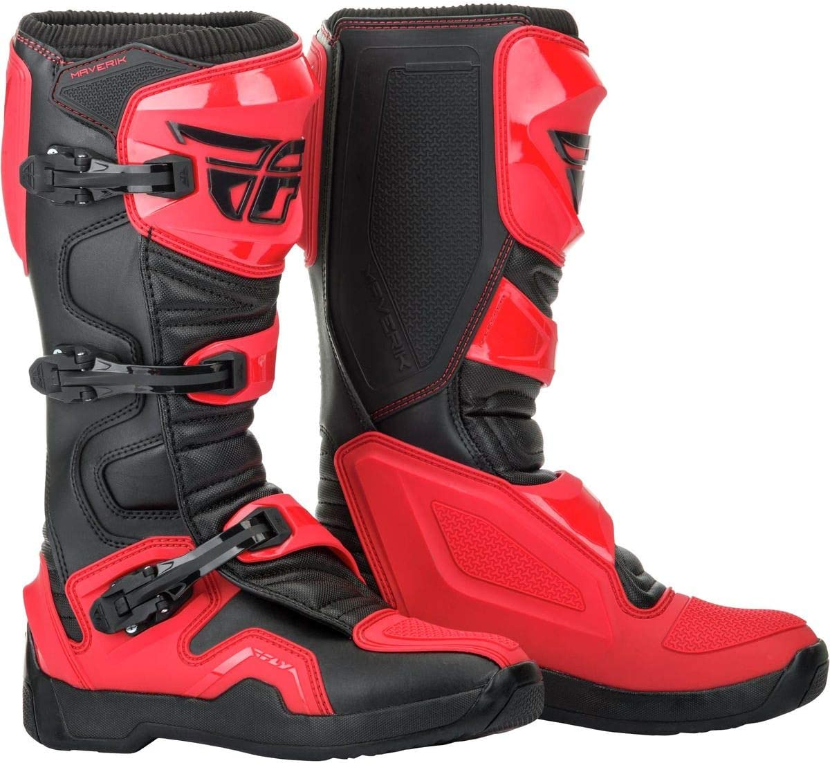 FLY Racing Maverik Boots for Motocross and ATV riding Off-road SZ 14,BLACK