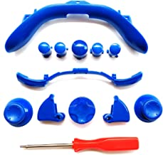 massmall Custom Mod Kit for Xbox 360 Controller Thumbsticks, Dpad, RB LB, ABXY, Trim, Triggers, Guide, T8 Security Driver Blue