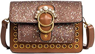 VogueZone009 Women's Bags Casual Chains Shopping Pu Crossbody Bags,CCABO210037