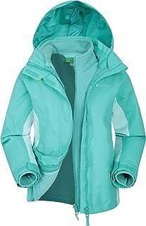 Mountain Warehouse Lightning 3 in 1 Kids Waterproof Rain Jacket - Childrens Raincoat