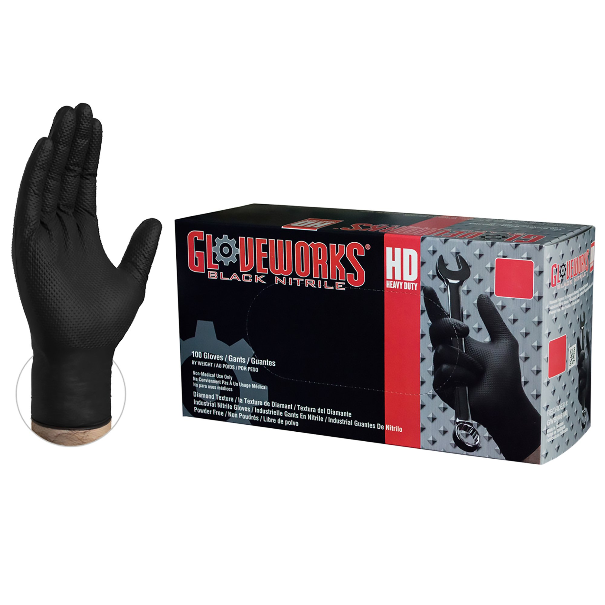 AMMEX Heavy Nitrile Disposable Gloves