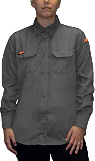 National Safety Apparel TCGSSWN00112MDRG00 Women's Tecgen Select Fr Work Shirt Large TCGSSWN00115LGRG00 1