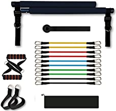 Sfeexun Pilates Bar Kit, Pilates Reformer Uitrusting Pilates Toning Bar, Weerstandsband met Voetbanden Deuranker voor Voll...