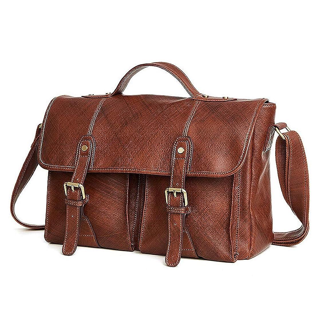 FGEFG Large Size Men's Laptop Bag Travel Briefcase with Organizer Expandable Shoulder Bag Water Resisatant Business Messenger Briefcases for Men and Women rupjrpzt8