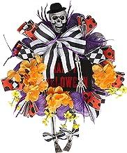 NC Festa de Halloween Enfeites de Caveira Exclusivos Witch Fall Harvest Grinalda para