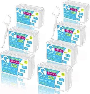 フロス 420本入(強い 細い デンタルフロス)フロス 歯 携帯 定期便 入りやすい 歯間 フロス 大容量(60本入×7箱、ホワイト)