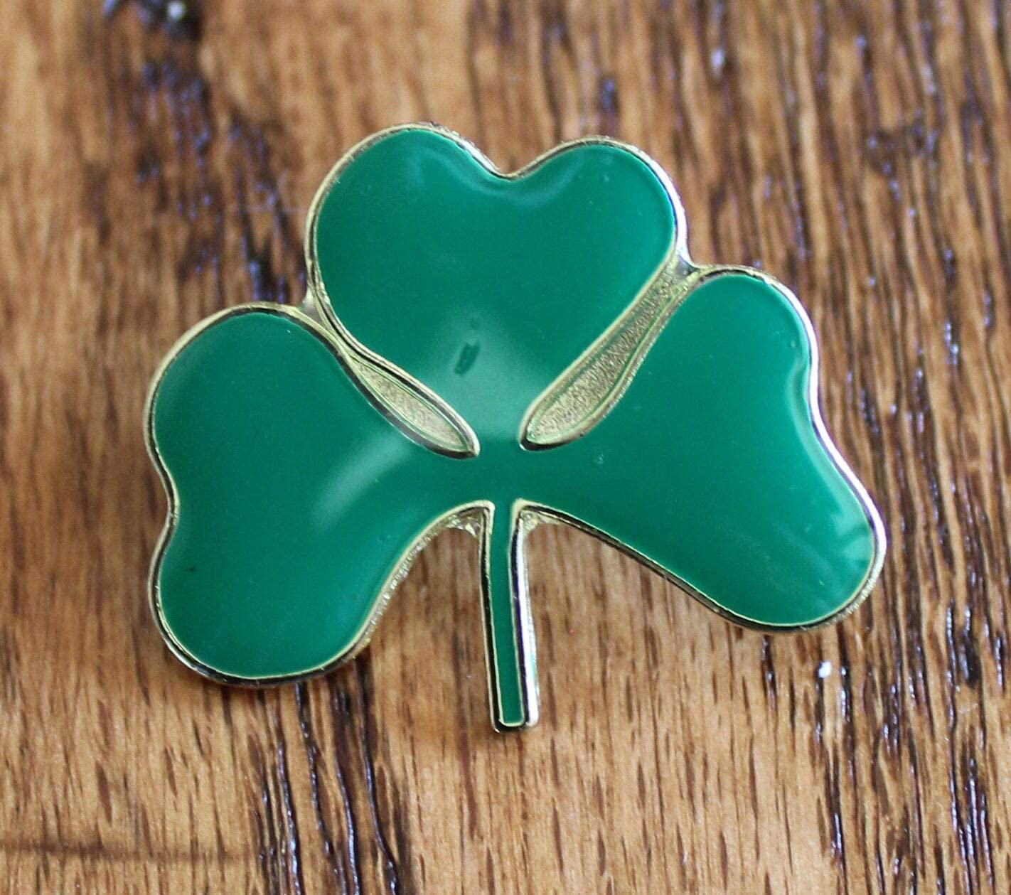 Shamrock Clover Award Lapel Hat Today's only Pin Tie Day Tack St. Ireland Patrick's