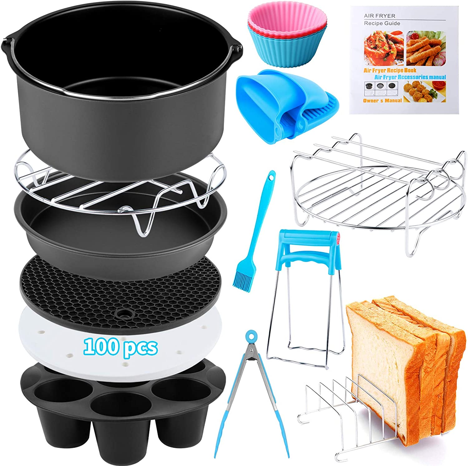 Air National products Fryer Accessories 12 PCS for Ninja Ranking integrated 1st place COSORI Go Phillips Gowise