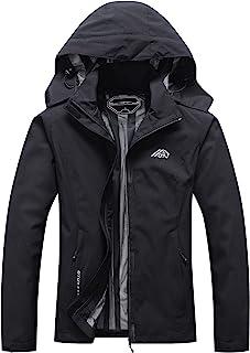 Women's Waterproof Rain Jacket Lightweight Hooded...