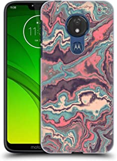 Official Andi Greyscale Old School Abstract Agate Hard Back Case Compatible for Motorola Moto G7 Power