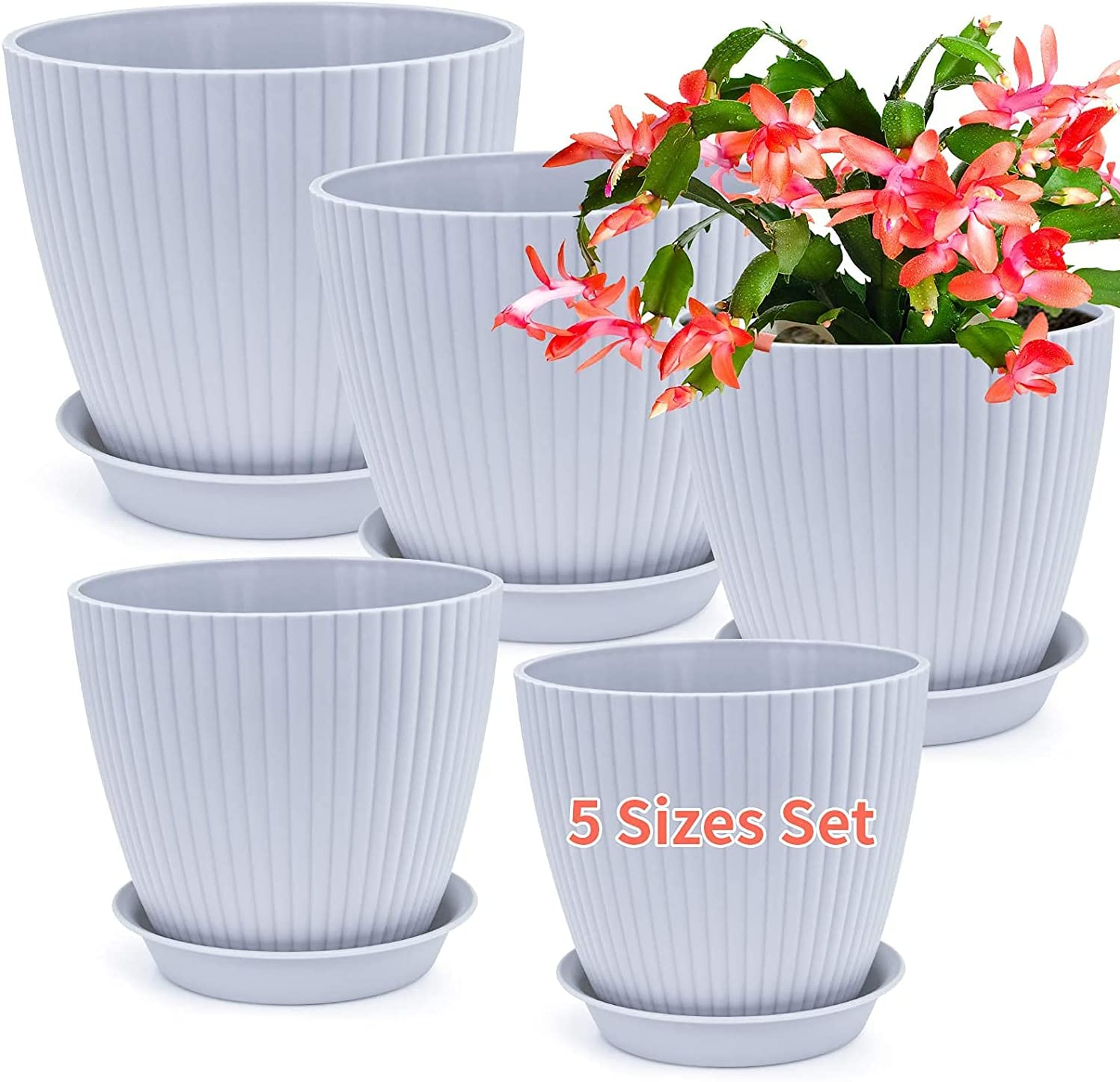 Plastic Plant Super popular specialty store outlet Pots 7.6 7 6.2 5.4 Garde 5 Inch and Indoor Outdoor