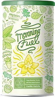 Morning Fuel - Vanilla Matcha Ontbijt Shake met veel voedingsstoffen - Eiwit van gekiemde erwten, quinoa, chia, MCT-olie, ...