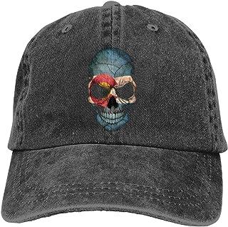 Unisex Vintage Washed Baseball Cap Vintage Colorado Skull Cotton Adjustable for Men Women