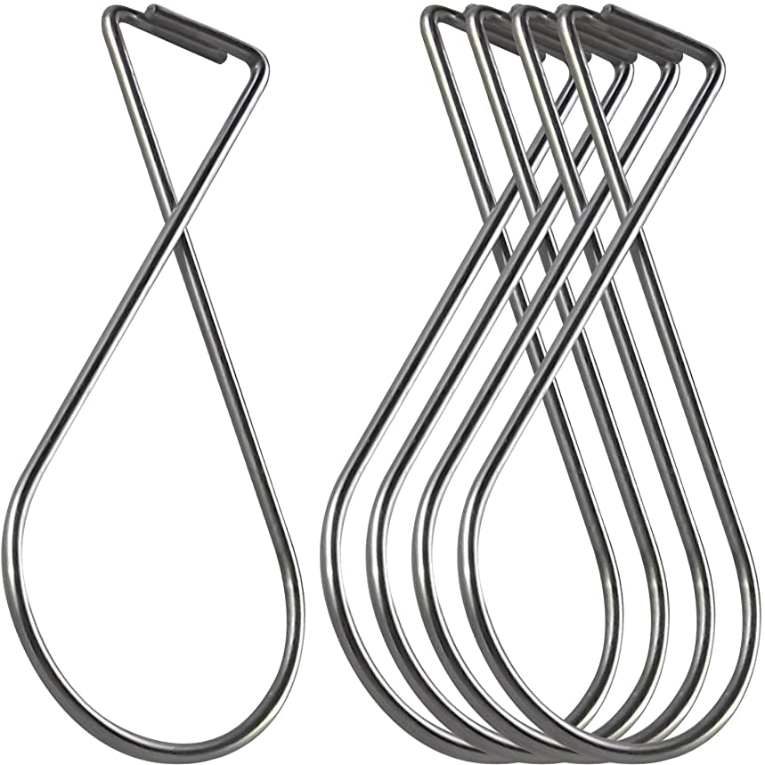 ATLIN Ceiling Hooks (100 Pack) - Drop Ceiling Clips Great for Wedding Decorations and Classroom Decorations - T-Bar Clip fits Drop Ceilings, Suspended Ceilings, Tile Ceiling, and Grid Ceiling