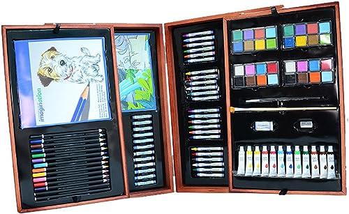 Artist Premier Set zum Zeichnen und Skizzieren 177 Teile - Tragbare Superluxus-Holzkiste, Mal- und Zeichensatz, enth  alle anderen Elemente, die Sie zum Starten ben gen. Perfekt für Kinder Anf e