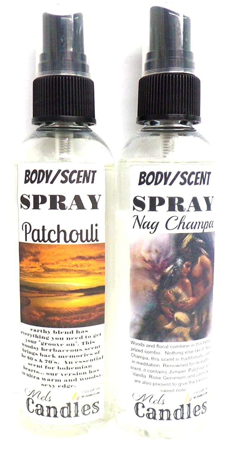 Nag Large discharge sale 35% OFF Champa Patchouli 4oz Pack Combo Body Spray