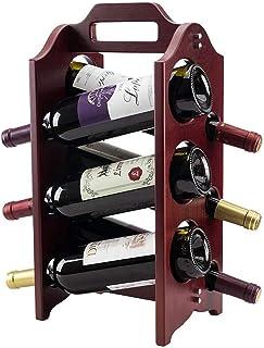 XHCP Casier à vin, Porte-Bouteille en Bois Massif, Support de Rangement pour Armoire à vin, présentoir à vin - Peut conten...