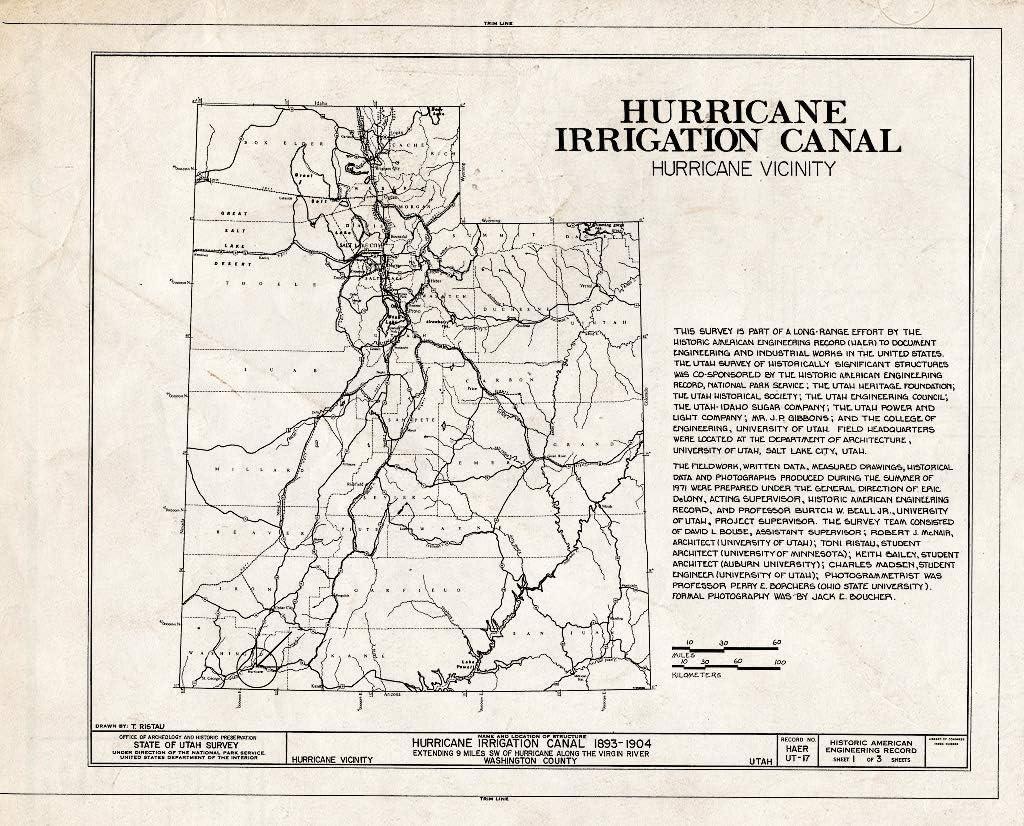 Historic Pictoric : Blueprint HAER Utah Don't miss the campaign 3 of 1- discount 27-HURI 1 Sheet