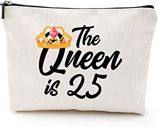 25th Birthday Gifts for Women,1994 birthday gifts,for Wife, Daughter, Sisters, Friends, queen 25th Anniversary, Fun Makeup Bag Gifts