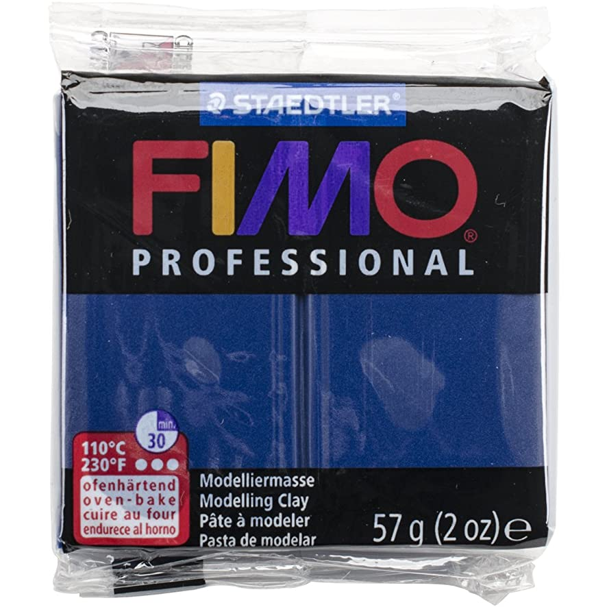 STAEDTLER Fimo Professional Soft Polymer Clay, 2 oz, Navy Blue