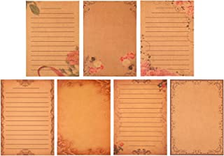 56 Sheets Vintage Stationery Set Stationery Paper Parchment Antique Colored Printed Paper Stationery Vintage Letter Writin...