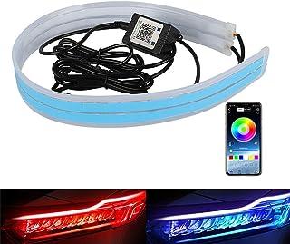 Flexible Car Led Light Strip DIBMS 24 Inches 60cm LED Multi Color Daytime Running Lights RGB Kit for Car Switchback Headli...