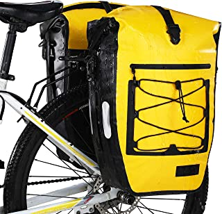 Gonex Bike Bag Pannier Bicycle Panniers for Bicycles Waterproof Bike Bags Rear Rack 27L for Cycling Bicycling Traveling Riding