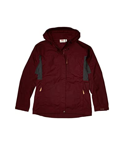 Fjallraven Kaipak Jacket (Dark Garnet/Dark Grey) Women