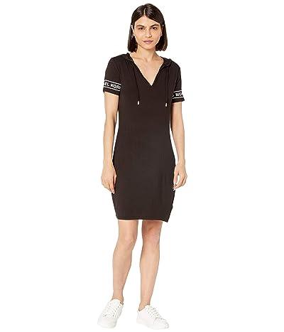 MICHAEL Michael Kors Petite Logo Sleeve Hoodie Dress Women