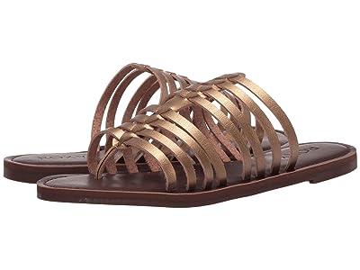 Roxy Tia Multi-Strap Sandals (Bronze) Women