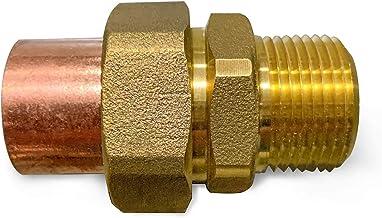 Everflow Supplies CCMU0001-NL 2,5 cm bezołowiowa miedziana złączka z potem do męskich połączeń gwintowanych