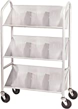 Buddy Products 54143 Sloped-Shelf Book Cart, Three Shelves, 26w x 16d x 41-1/2h, Gray
