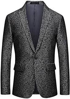 Men's Fashion Tweed Suits Blazer Prom Party Tuxedos Single Breasated Dinner Jacket