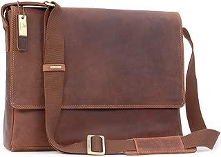 "Visconti East/West A4 Messenger / 15"" Laptop Bag - Hunter Leather - Hardwearing/Shoulder/Cross Body/Business/Office/Work Bag/Leisure - 18516 - Texas (L) - Oil Tan"