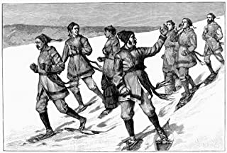 Posterazzi GLP469052LARGE Poster Print Collection Canada: Snowshoe 1884. /Na Snowshoe Party Near Montreal. Wood Engraving American 1884. Poster Print By, (18 X 24