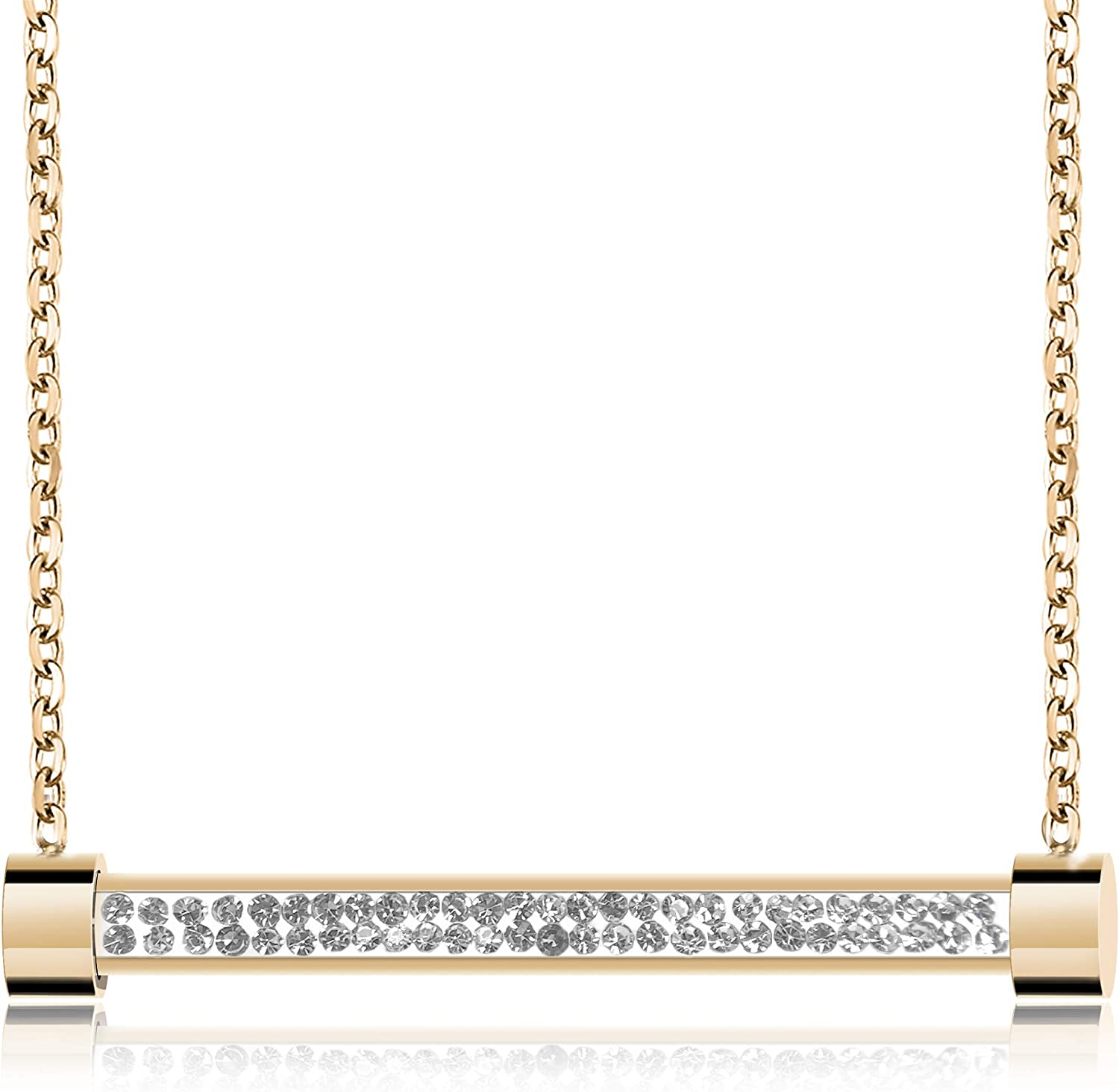 Frwiskp Finally popular brand Pendant Max 78% OFF Necklace - 18K Sh Plated Gold with Rose
