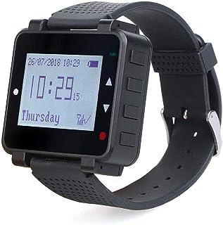 Retekess T128 Reloj Receptor Recargable para T114 y T117 Botón con USB Cable de Carga para Restaurante Salón Privado Mesa ...