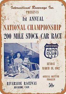 Metallschild, 20,3 x 30,5 cm, 1962 Riverside Raceway 200 Stock Car Race Vintage Look