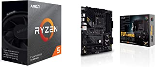 ASUS AMD B550搭載 AM4 対応 マザーボード TUF GAMING B550-PLUS + AMD Ryzen 5 3600 with Wraith Stealth cooler 3.6GHz 6コア / 12スレッド 35MB ...