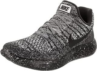 Nike Women's Lunarepic Low Flyknit 2 Running Shoe Black/White-Anthracite 7.0
