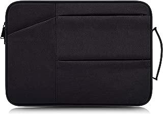Canvas Laptop Sleeve Case Bag For 10.1 inch Lenovo Yoga Book, RCA Viking Pro RCA Cambio, ASUS Transformer Book T101HA / Mini T103HA / Chromebook Flip C101PA, HP x2 Pavilion x2, Acer Switch V10 (Black)